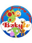 7.5 Personalised Baby TV Draco Ect Edible Icing Birthday Cake Topper